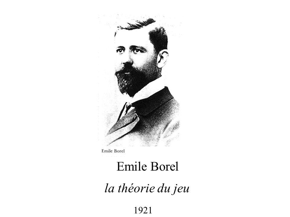 Emile Borel la théorie du jeu 1921