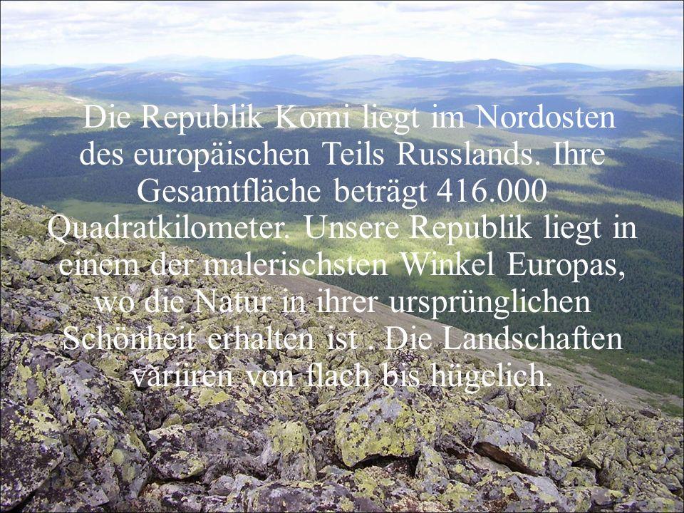 Die Republik Komi liegt im Nordosten des europäischen Teils Russlands