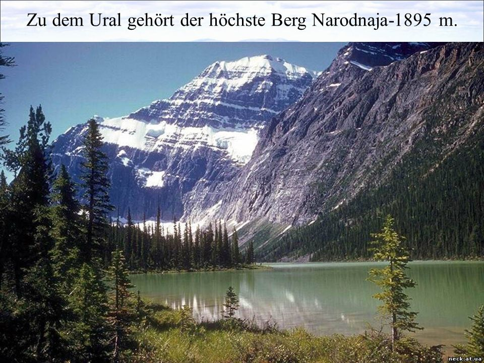 Zu dem Ural gehört der höchste Berg Narodnaja-1895 m.