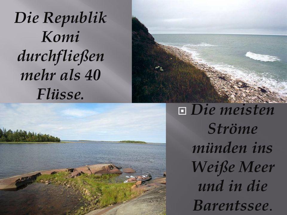 Die Republik Komi durchfließen mehr als 40 Flüsse.