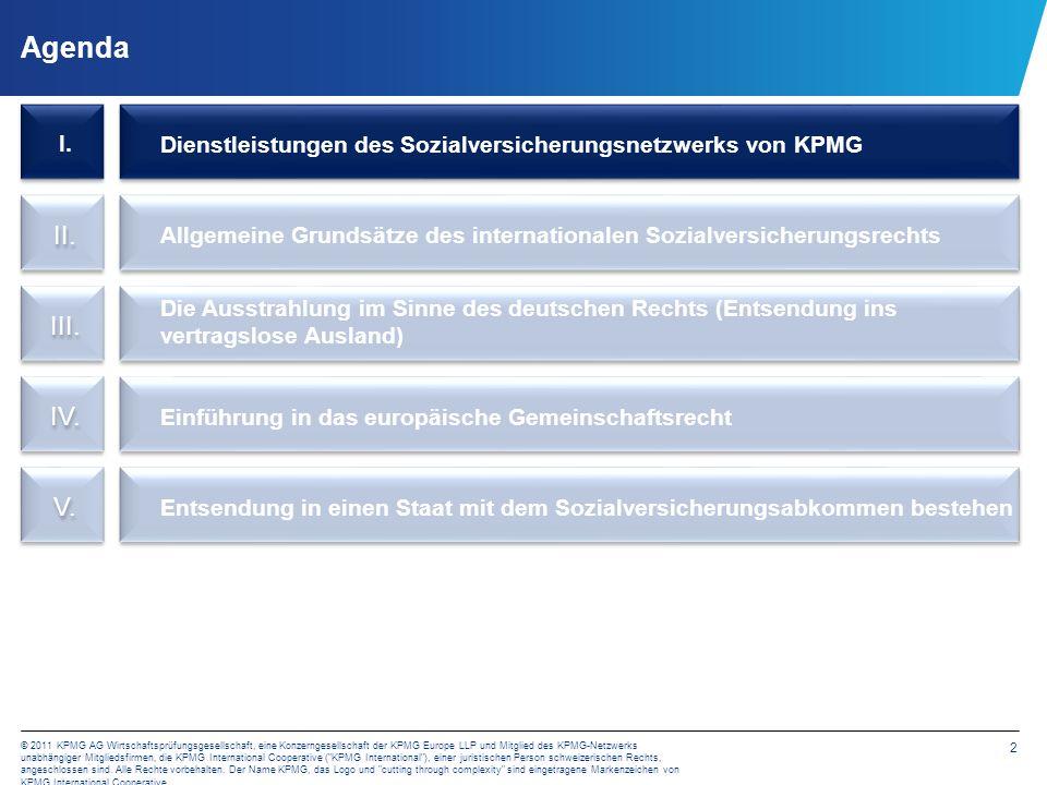 Das Sozialversicherungsnetzwerk von KPMG Unser Dienstleistungsangebot
