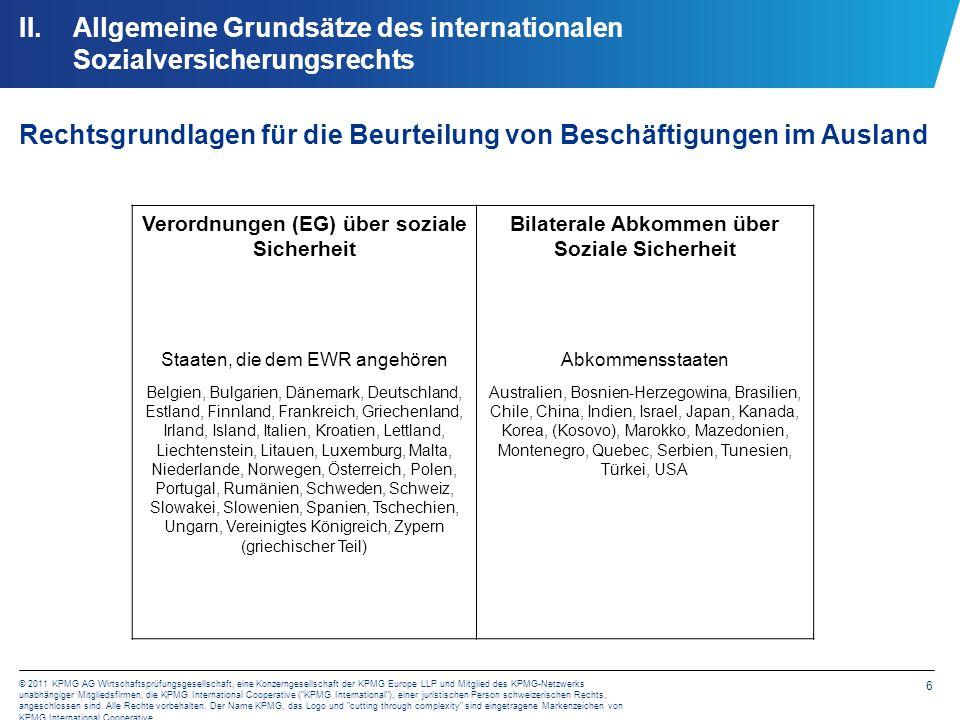 Allgemeine Grundsätze des internationalen Sozialversicherungsrechts
