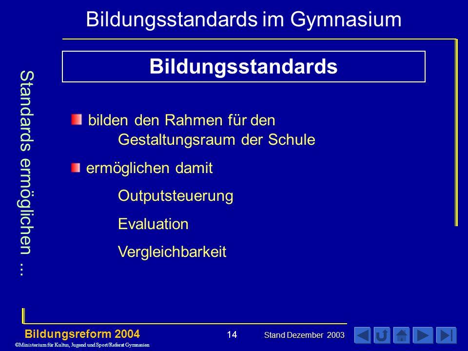Bildungsstandards Standards ermöglichen ...