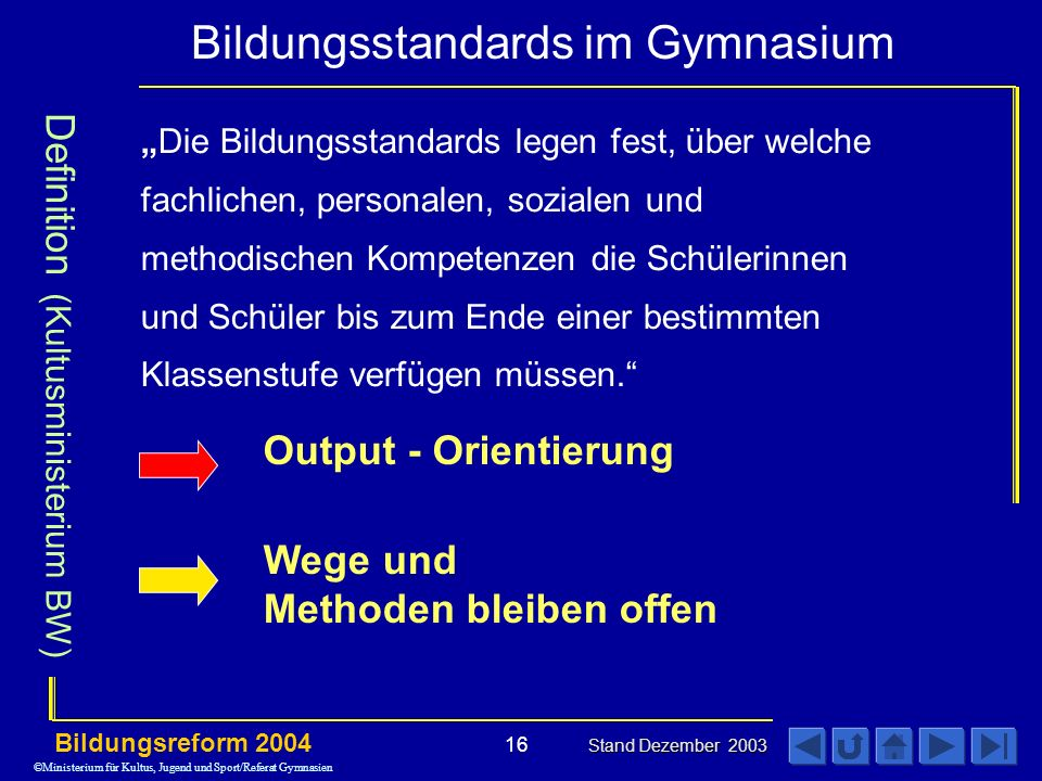 Definition (Kultusministerium BW)