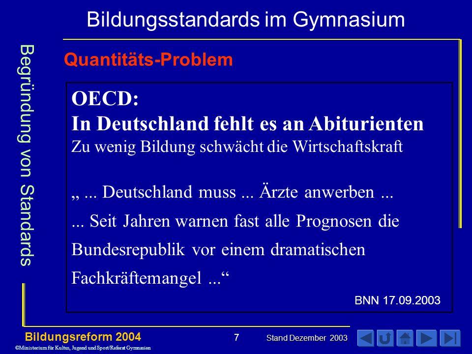 In Deutschland fehlt es an Abiturienten