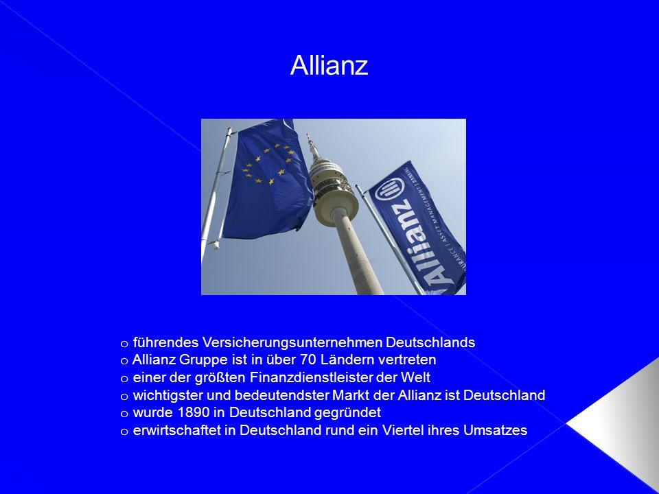 Allianz führendes Versicherungsunternehmen Deutschlands
