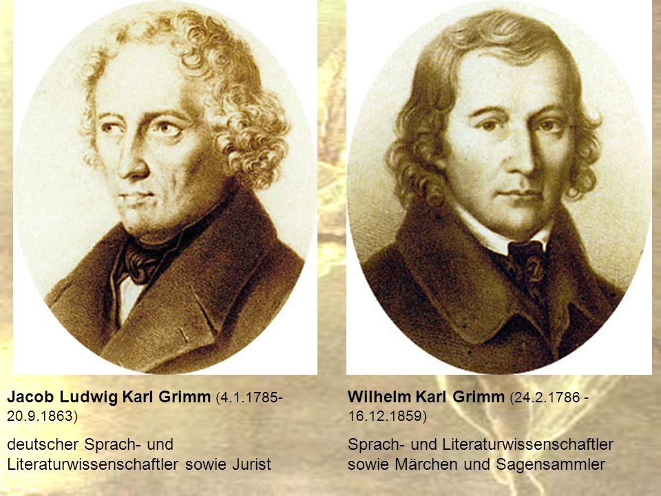 Jacob Ludwig Karl Grimm (4.1.1785- 20.9.1863)