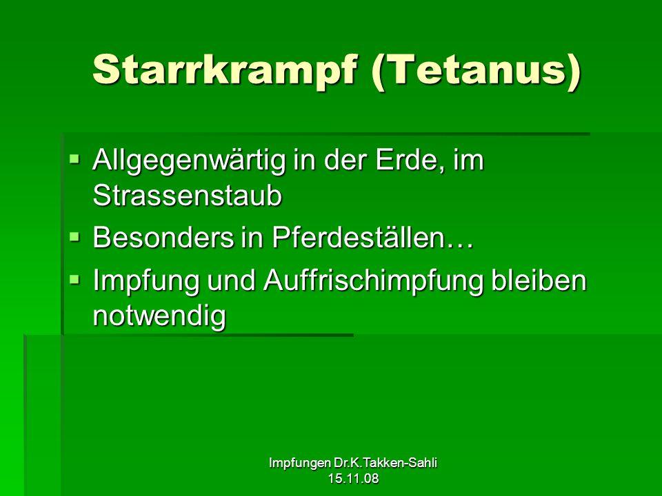 Starrkrampf (Tetanus)