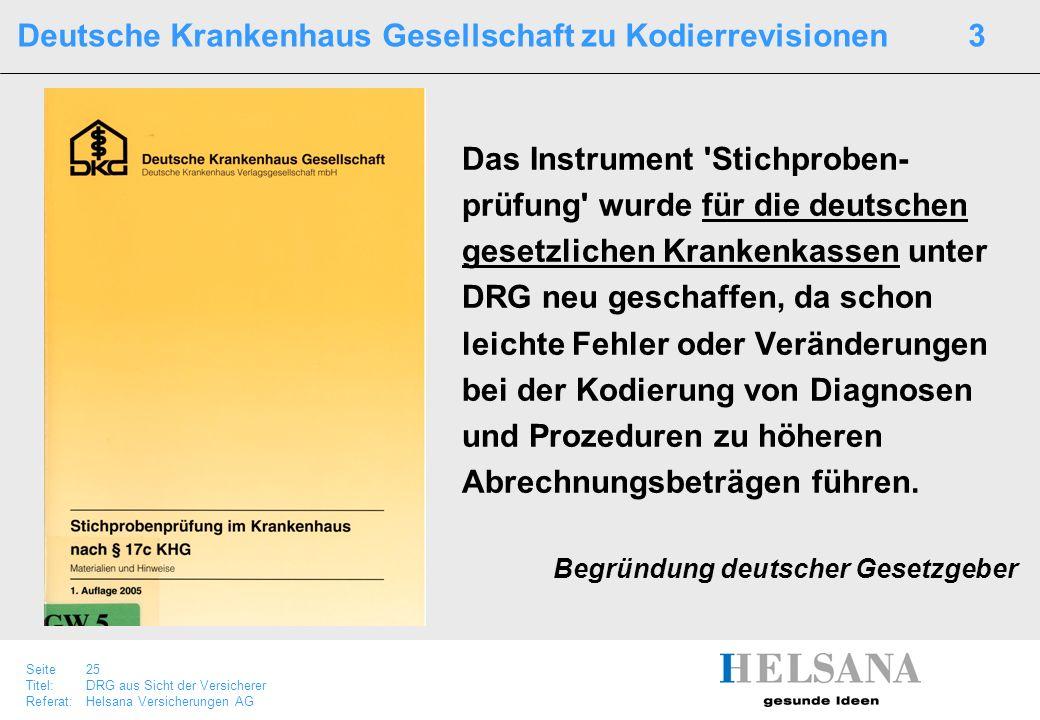 Deutsche Krankenhaus Gesellschaft zu Kodierrevisionen 3