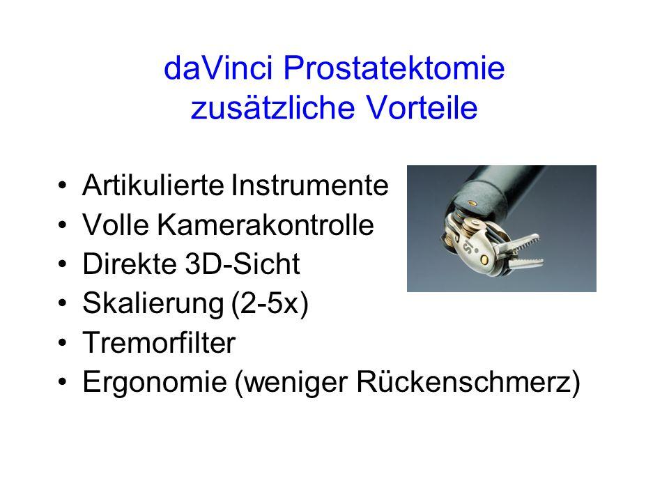 daVinci Prostatektomie zusätzliche Vorteile