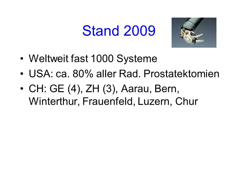 Stand 2009 Weltweit fast 1000 Systeme