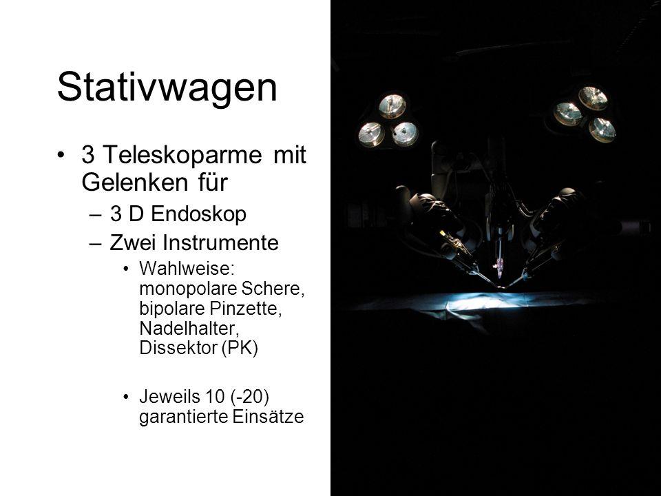Stativwagen 3 Teleskoparme mit Gelenken für 3 D Endoskop