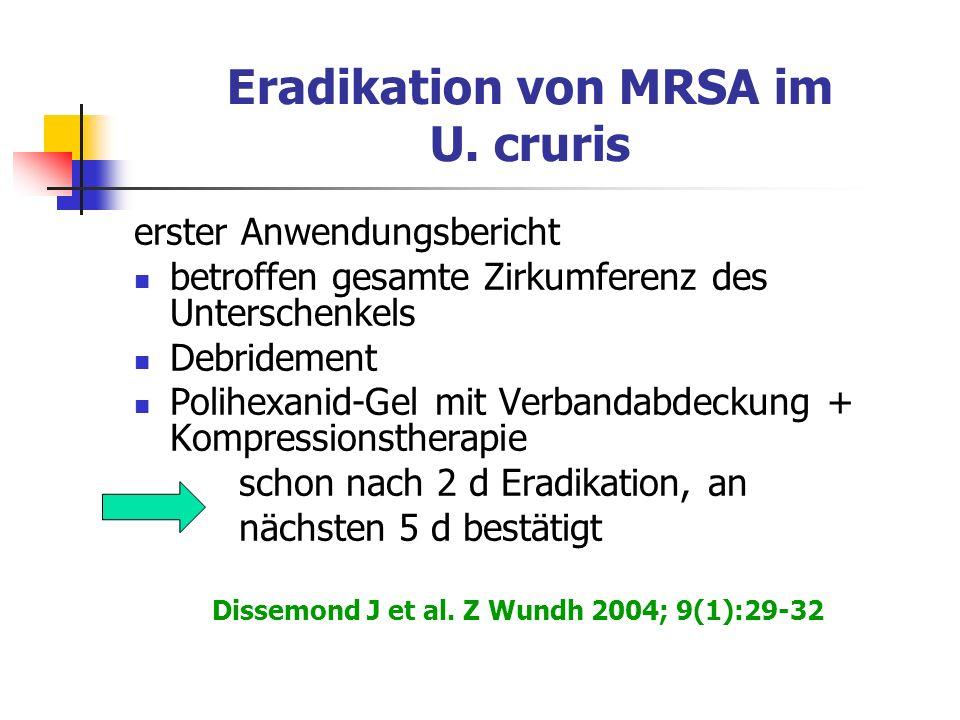 Eradikation von MRSA im U. cruris