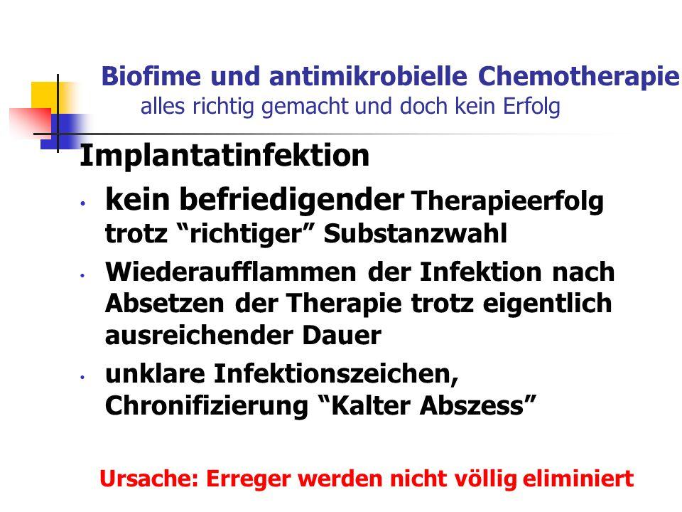 kein befriedigender Therapieerfolg trotz richtiger Substanzwahl
