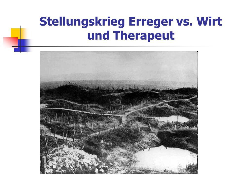 Stellungskrieg Erreger vs. Wirt und Therapeut