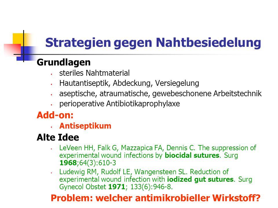 Strategien gegen Nahtbesiedelung