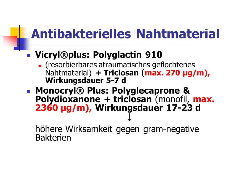 Antibakterielles Nahtmaterial