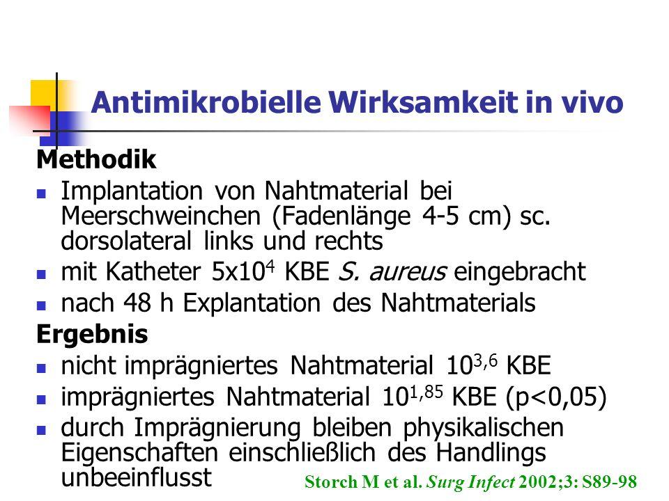 Antimikrobielle Wirksamkeit in vivo