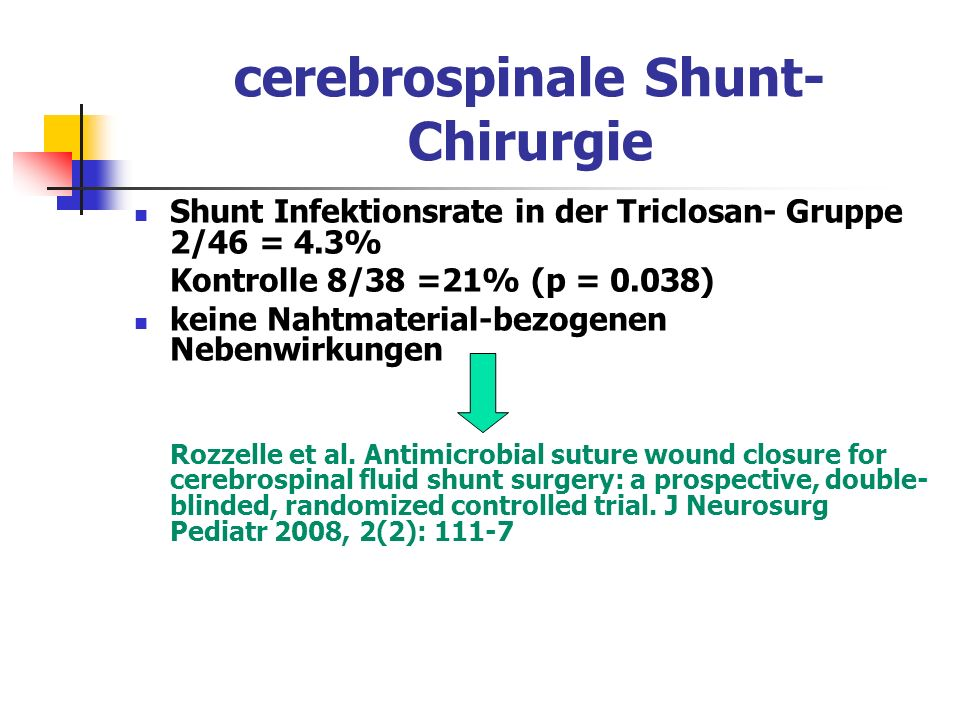 cerebrospinale Shunt- Chirurgie