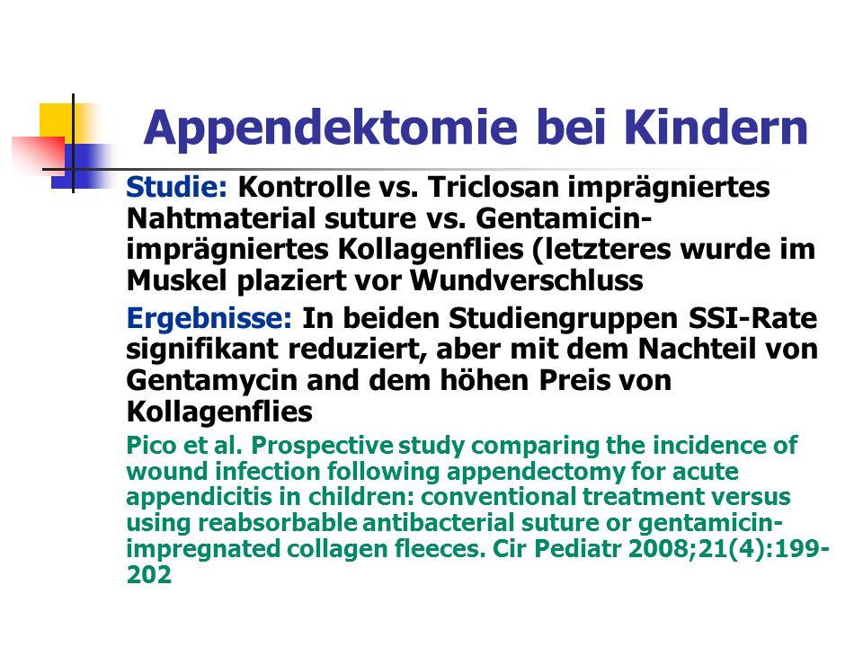 Appendektomie bei Kindern