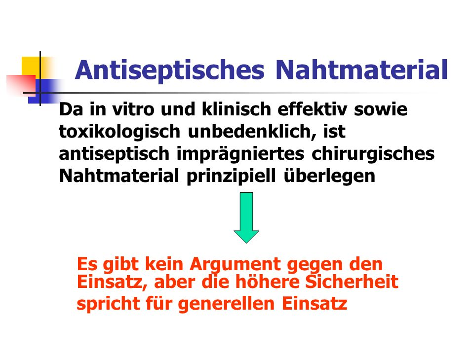 Antiseptisches Nahtmaterial
