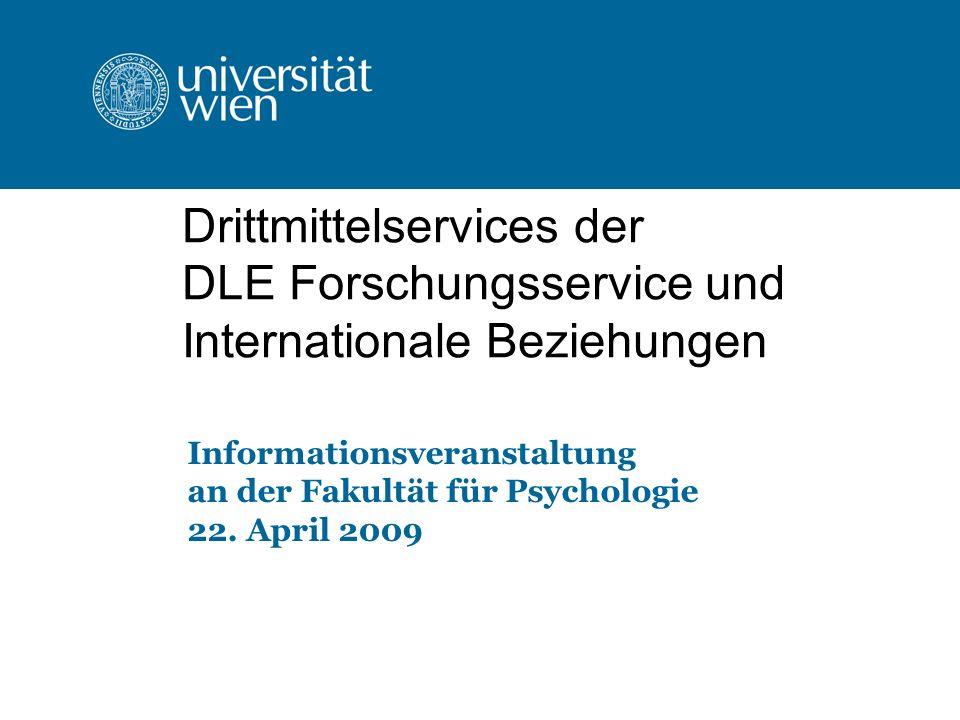 Drittmittelservices der DLE Forschungsservice und Internationale Beziehungen