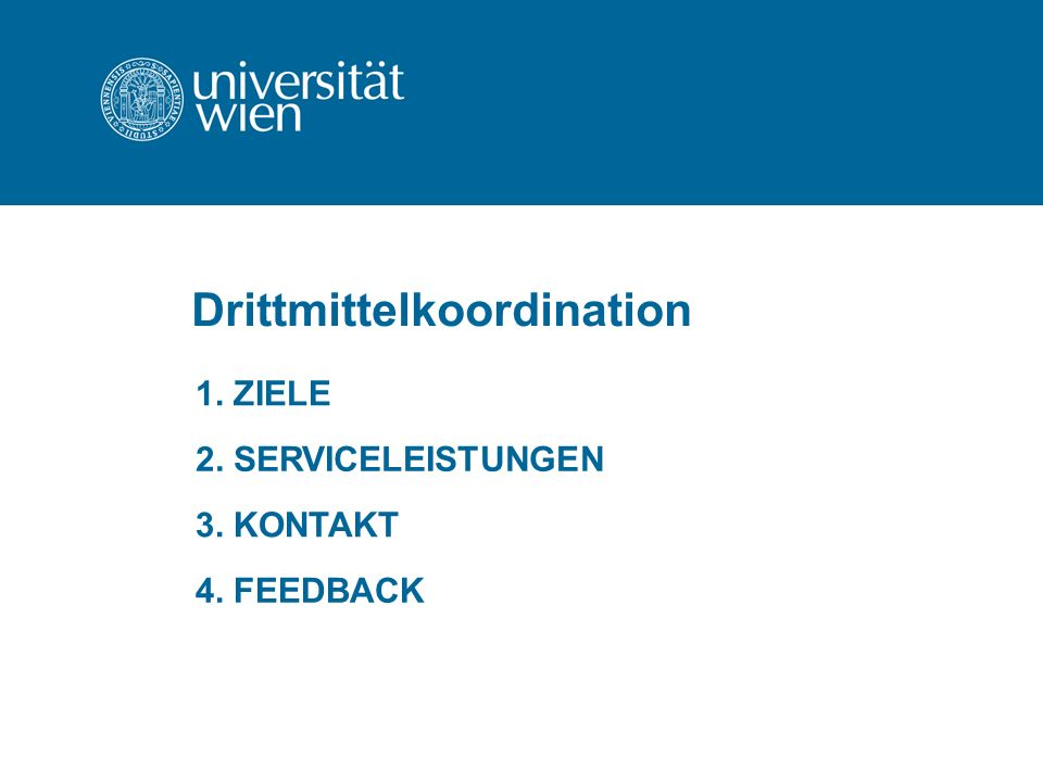 Drittmittelkoordination