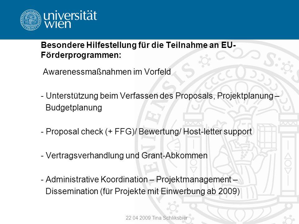 Besondere Hilfestellung für die Teilnahme an EU-Förderprogrammen: