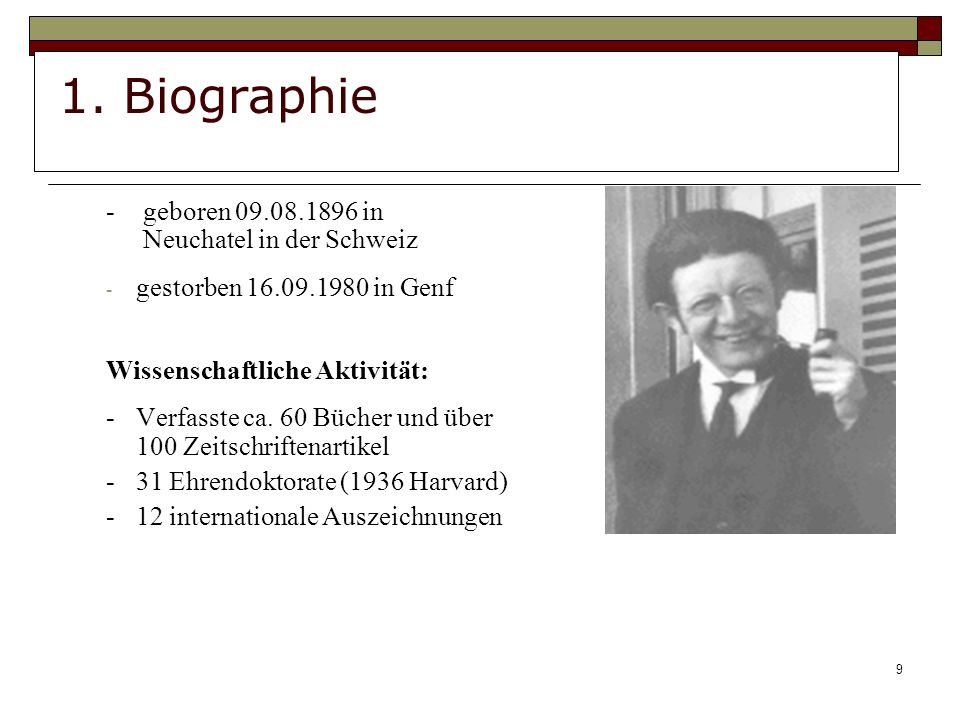 1. Biographie - geboren 09.08.1896 in Neuchatel in der Schweiz