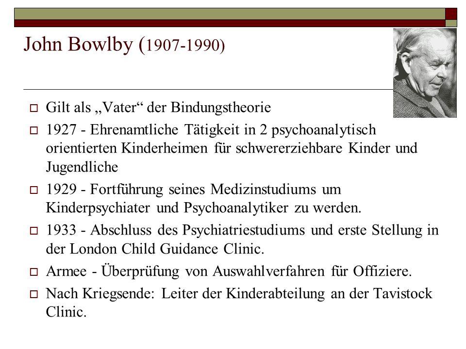 """John Bowlby (1907-1990) Gilt als """"Vater der Bindungstheorie"""