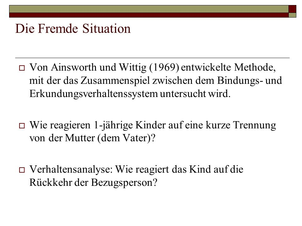 Die Fremde Situation