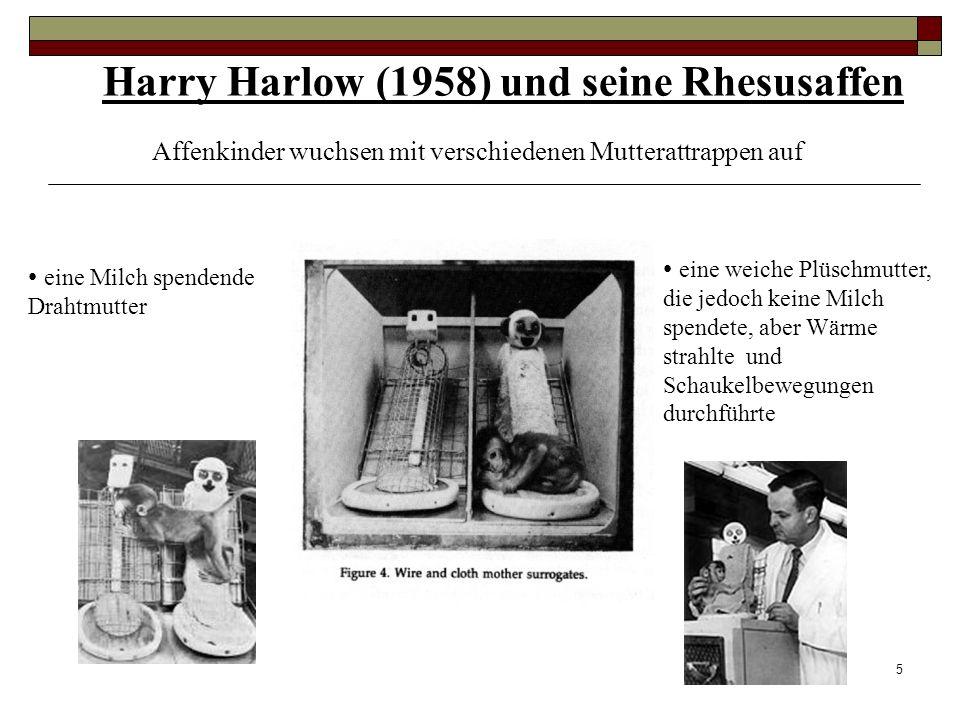 Harry Harlow (1958) und seine Rhesusaffen