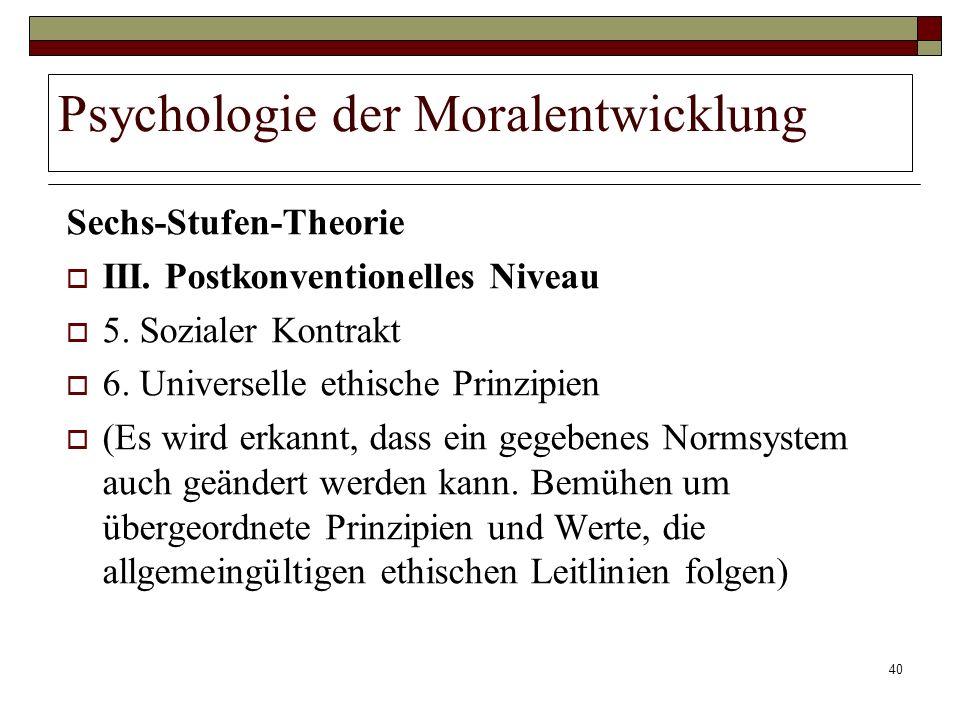 Psychologie der Moralentwicklung