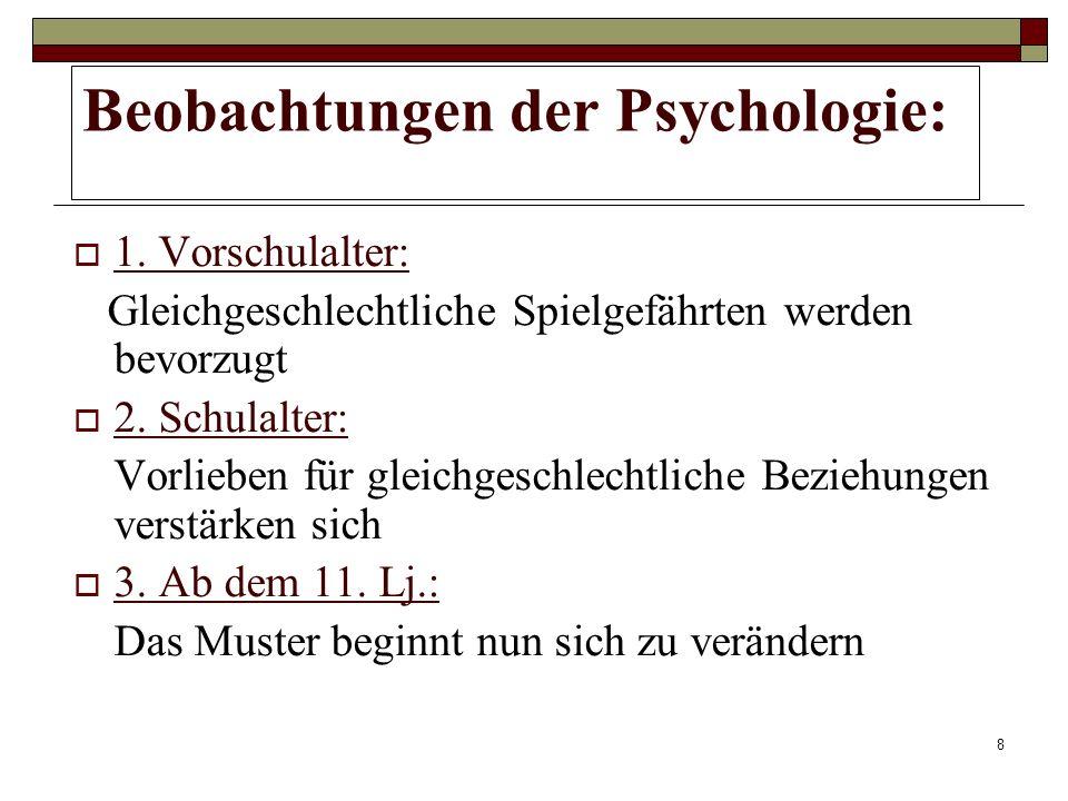 Beobachtungen der Psychologie:
