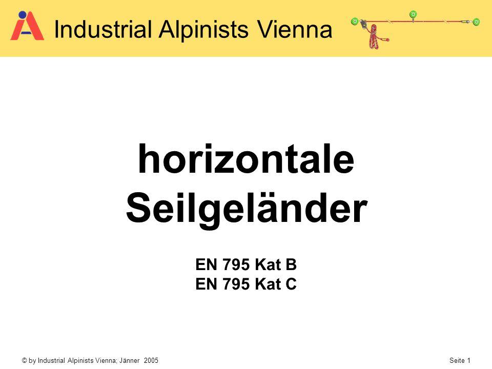horizontale Seilgeländer