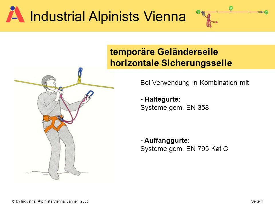temporäre Geländerseile horizontale Sicherungsseile