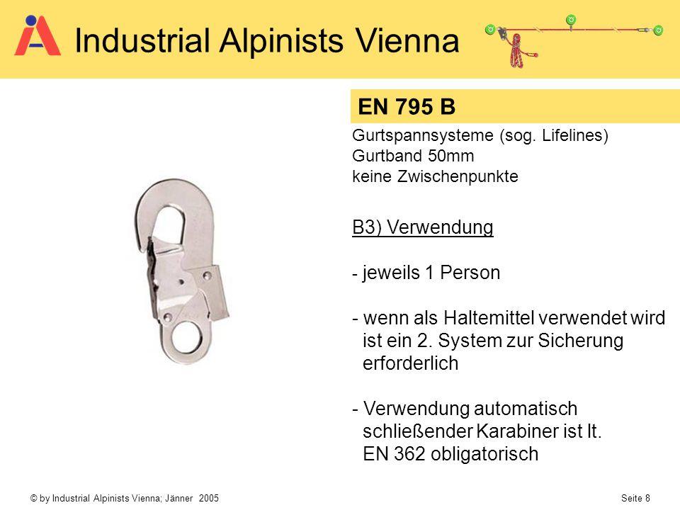 EN 795 B B3) Verwendung wenn als Haltemittel verwendet wird