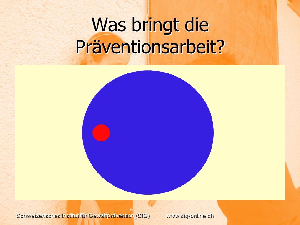 Was bringt die Präventionsarbeit