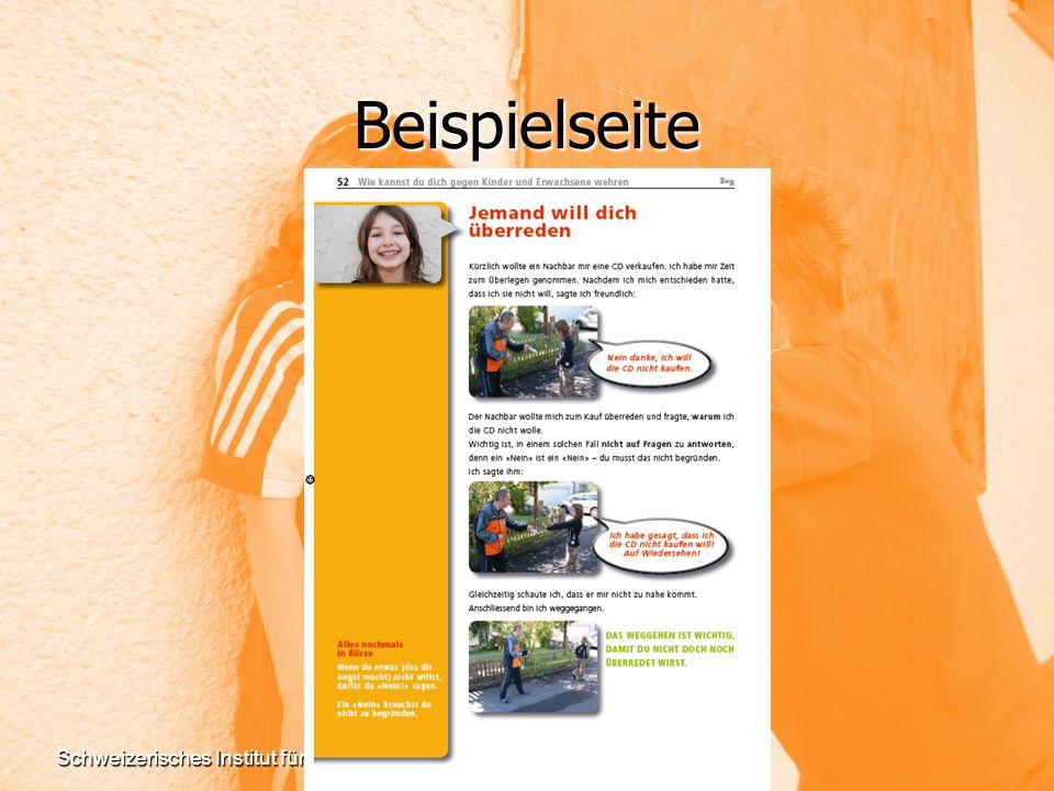 Beispielseite Schweizerisches Institut für Gewaltprävention (SIG) www.sig-online.ch