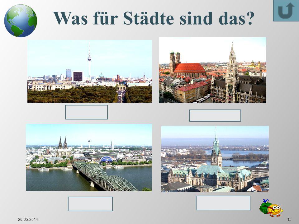 Was für Städte sind das Berlin München Hamburg Köln 31.03.2017