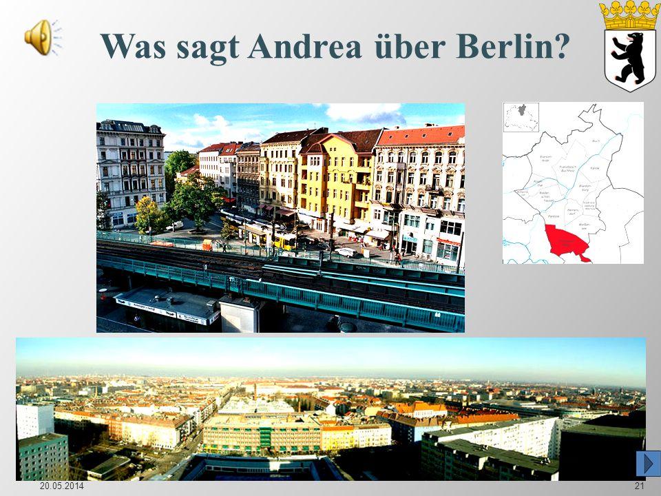 Was sagt Andrea über Berlin
