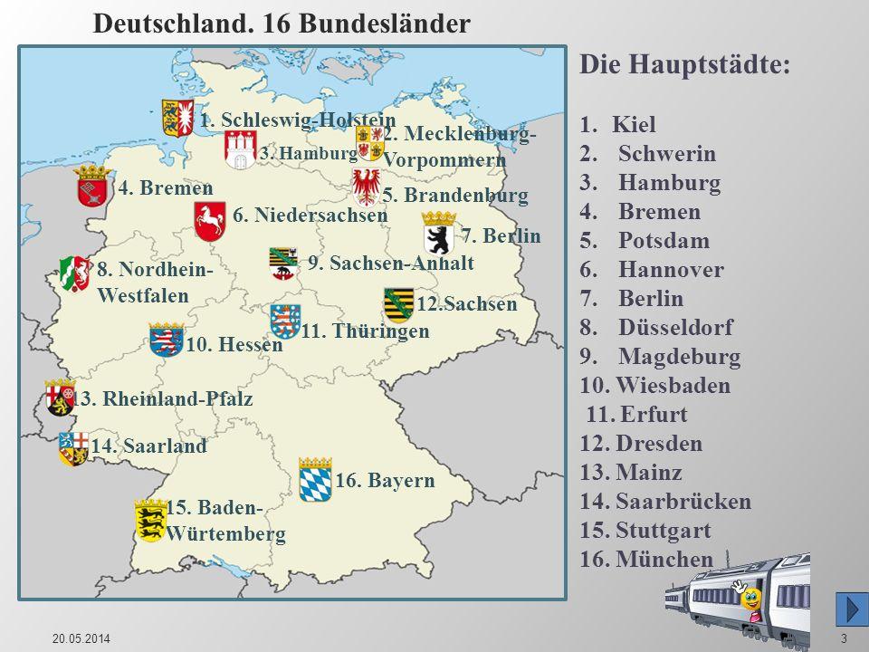Deutschland. 16 Bundesländer
