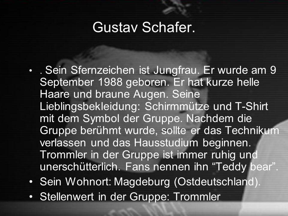 Gustav Schafer. Sein Wohnort: Magdeburg (Ostdeutschland).