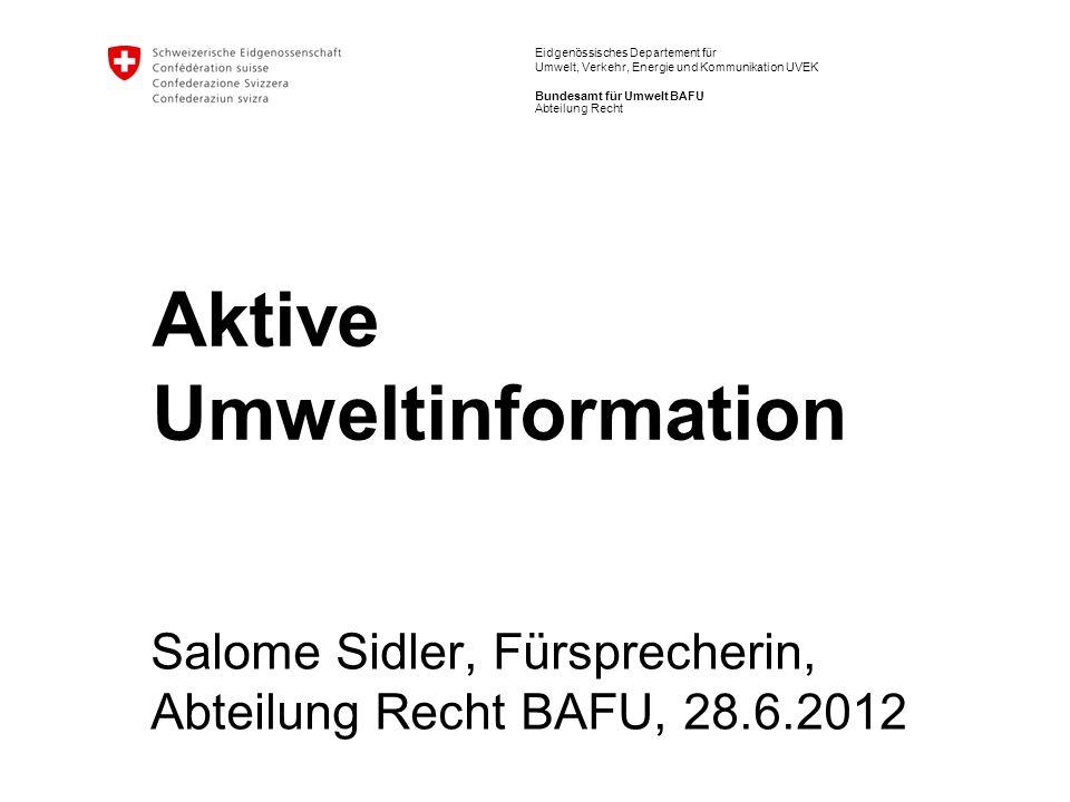 Aktive Umweltinformation