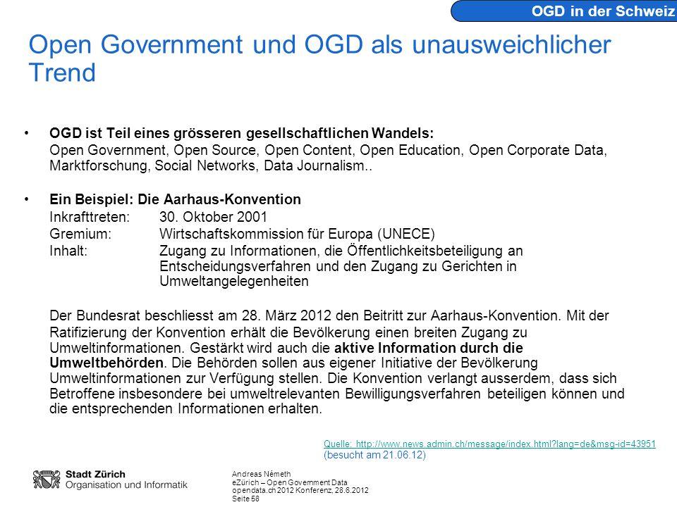 Open Government und OGD als unausweichlicher Trend