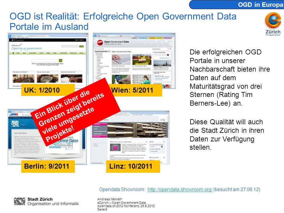 OGD ist Realität: Erfolgreiche Open Government Data Portale im Ausland