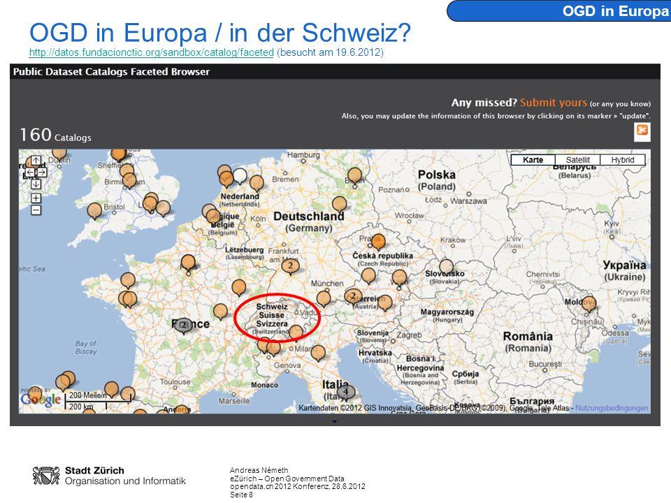 OGD in Europa OGD in Europa / in der Schweiz.