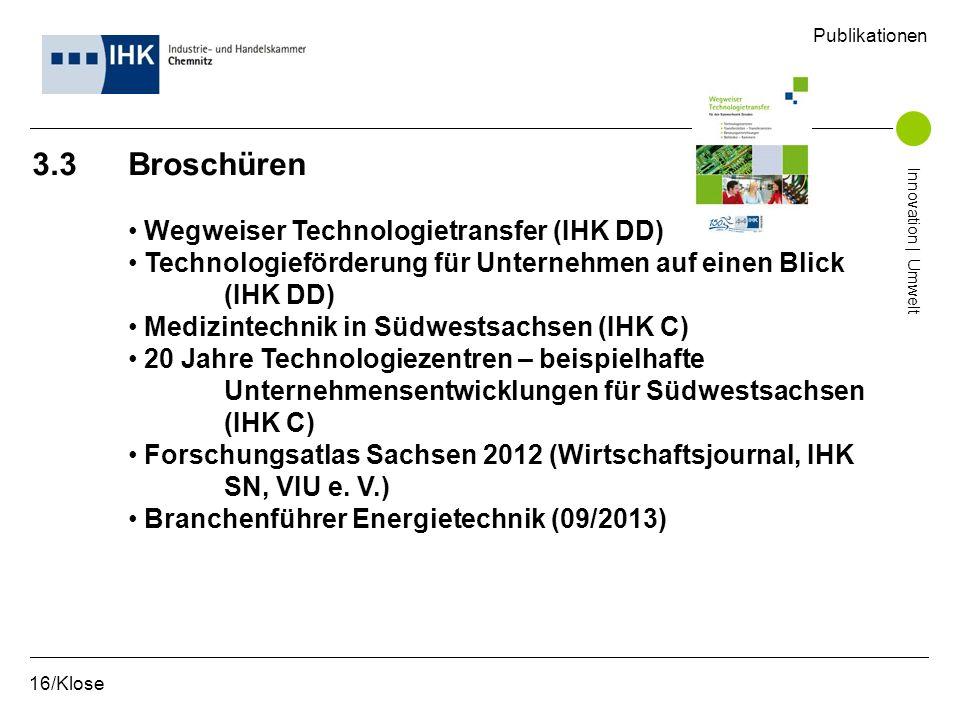 3.3 Broschüren Wegweiser Technologietransfer (IHK DD)