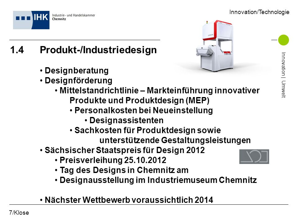 1.4 Produkt-/Industriedesign