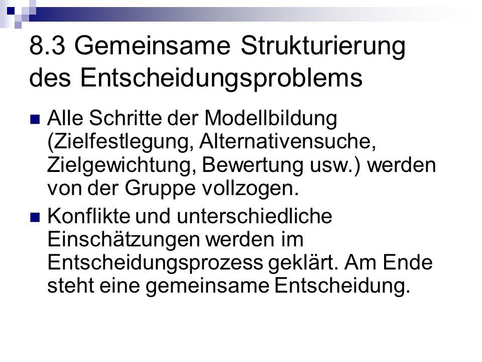 8.3 Gemeinsame Strukturierung des Entscheidungsproblems